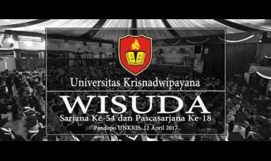 Wisuda Universitas Krisnadwipayana 12 April 2017